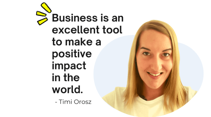 Timi Orosz business quote for spiritual and authentic marketing tips from Connect One Marketing