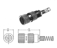 Item # AP-176, Audio Plugs (MIL-C-55116) On Amphenol NEXUS