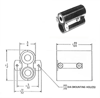 Item # TJ-106 PM, Telephone Jack Biaxial Shielded On