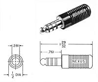 Item # TP-120, Telephone Plug On Amphenol NEXUS Technologies