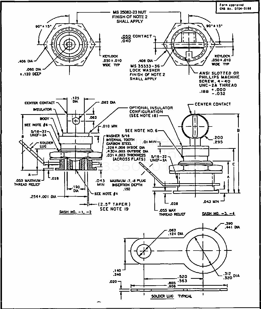 MS90335 Connector, Receptacles, Plugs, Adapter, El