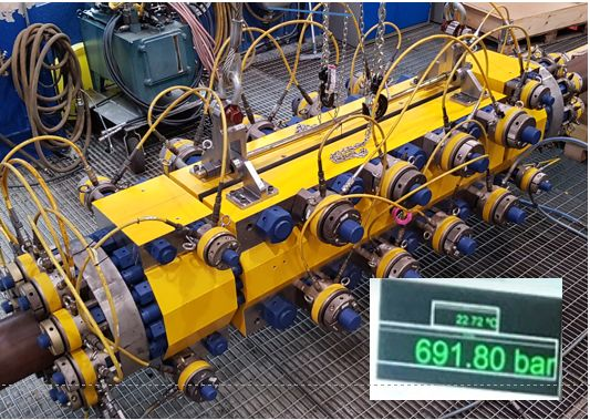 High pressure subsea clamp tested to 961.8 bar