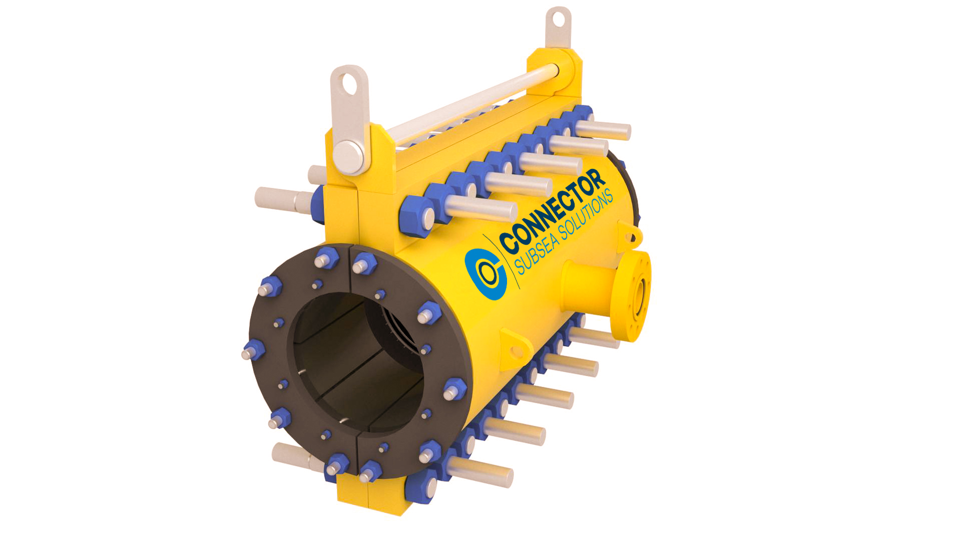 Illustrates the structural element of the subsea clamp for perminent repair