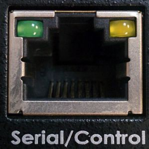KVM port for serial/control cable