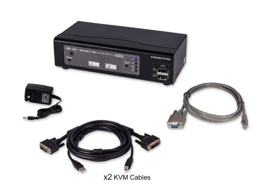 UD-12+ a two port USB DDM DVI KVM switch