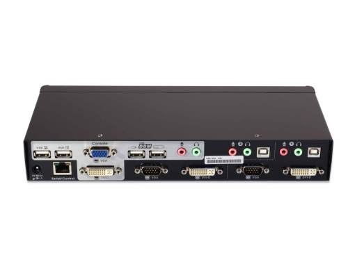 UDV-12A+KIT - 2-port USB DVI+VGA KVM switch w/ DDM and Audio