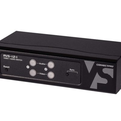 AVS-12-I 2-port VGA Video and Audio switch w/ Serial & optional IR remote control