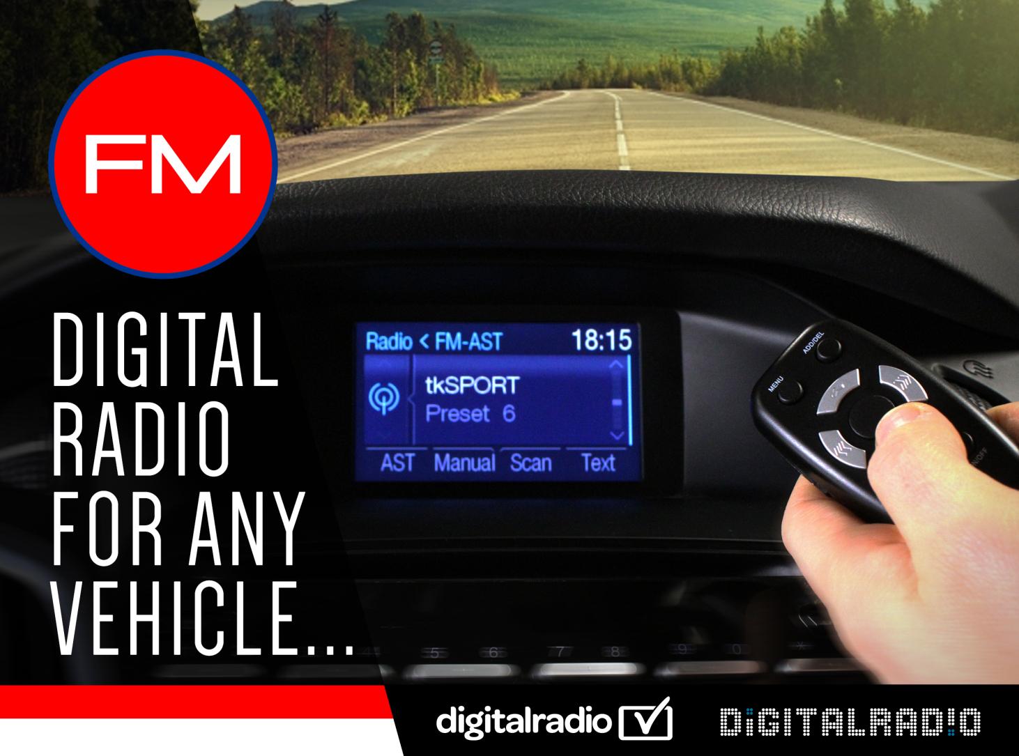 AutoDAB-FM Digital Radio For Any Vehicle