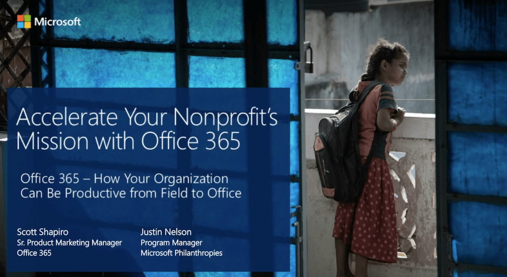 Increasing productivity with Office 365 Webinar