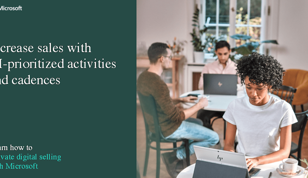 Increase sales with AI-prioritized activities and cadences