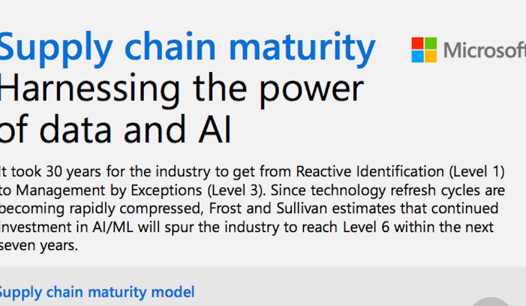 Supply chain maturity