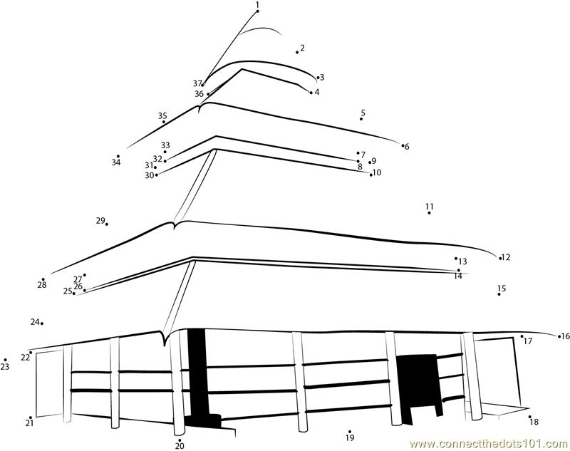 Hadimba Temple Manali dot to dot printable worksheet