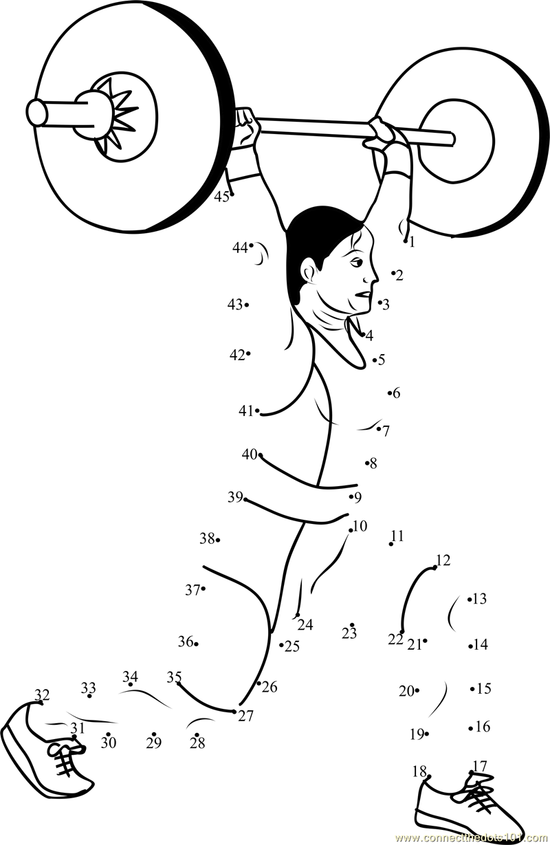 Connect the Dots Women weight lifting (Sports > Weight