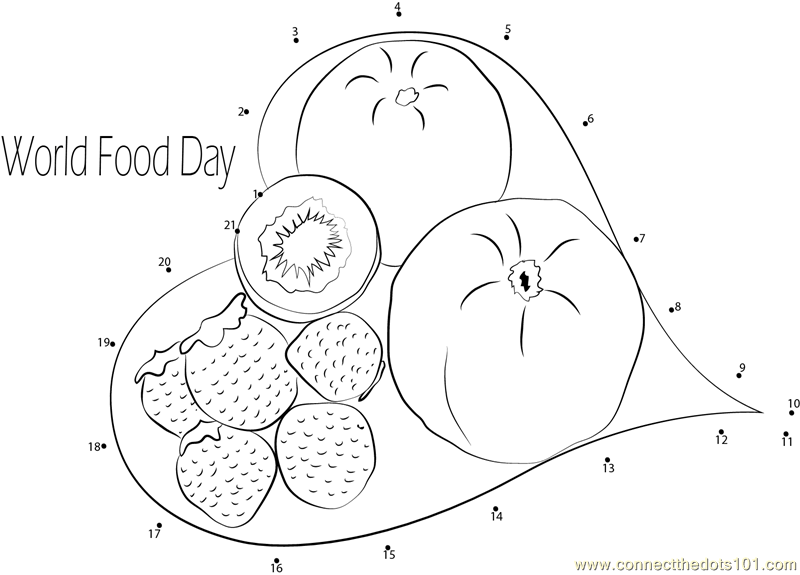 Connect the Dots Leaf Plate (Holidays > World Food Day