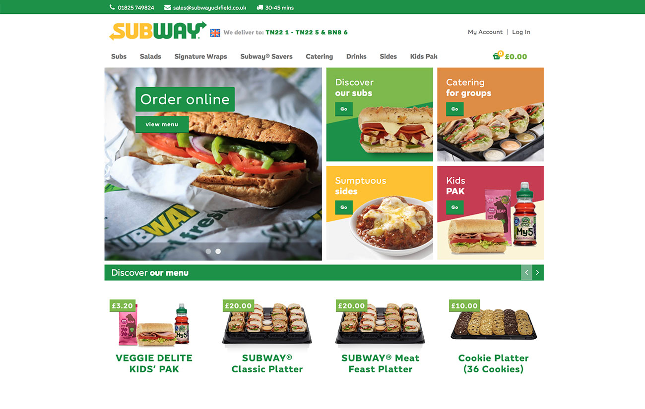 subway web design
