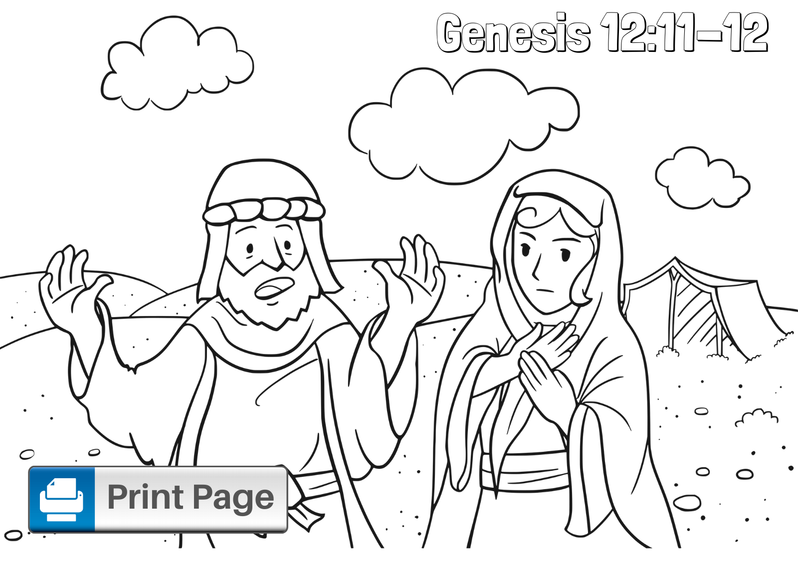 Free Abraham and Sarah Coloring Pages for Kids