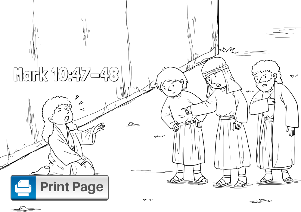 medium resolution of Jesus Heals the Blind Man Coloring Pages (Free Printables) – ConnectUS