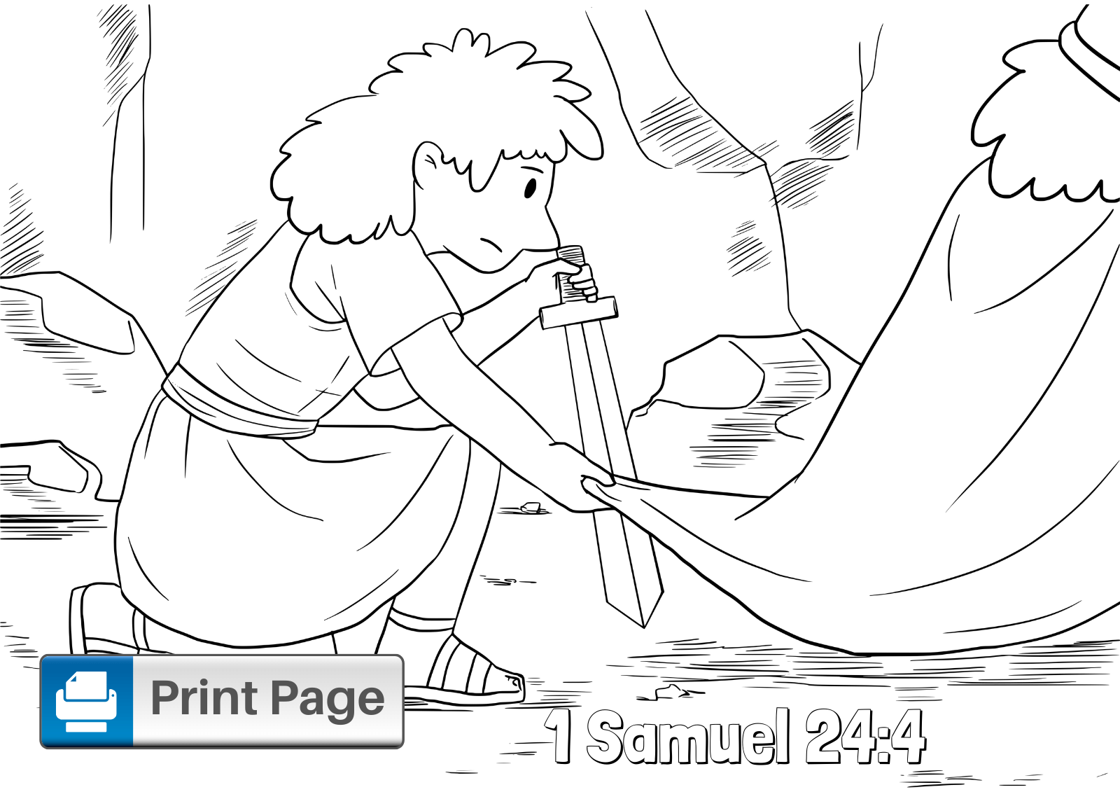 Free David Spares Saul Coloring Pages for Kids