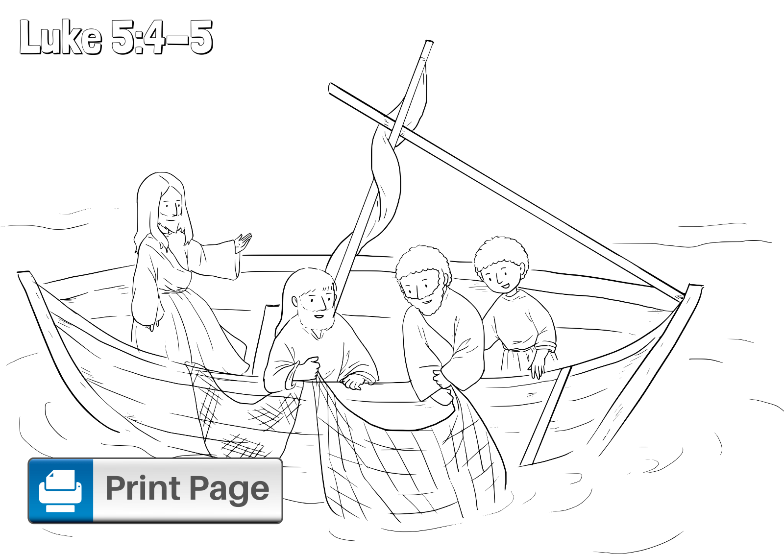 Free Fishers of Men Coloring Pages for Kids (Printable