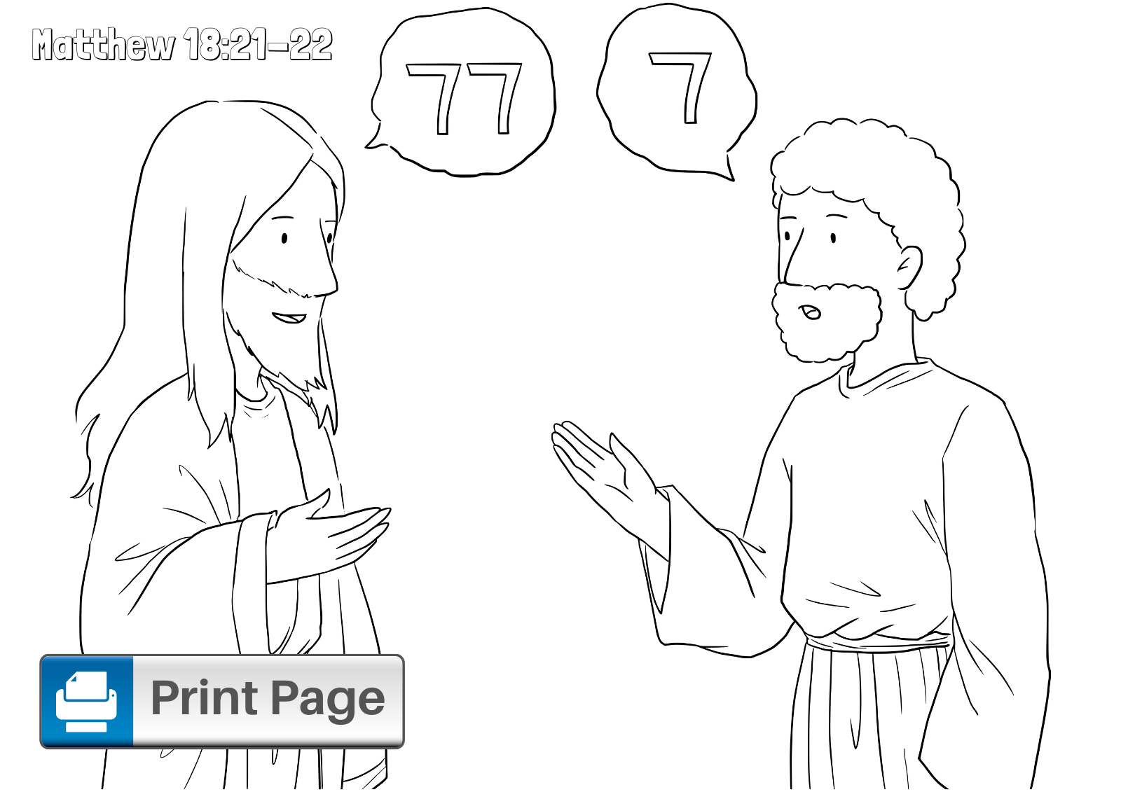 Free Forgiveness In The Bible Coloring Pages For Kids