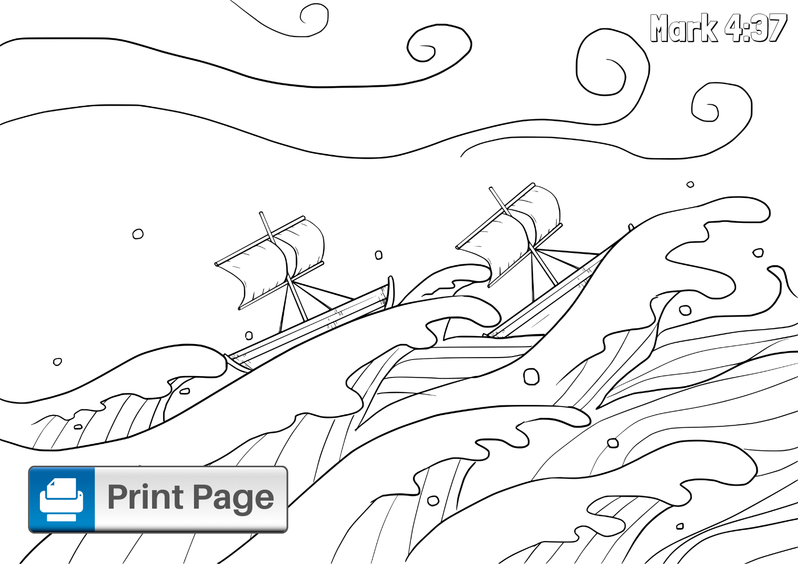 Free Jesus Calms the Storm Coloring Pages (Printable PDFs