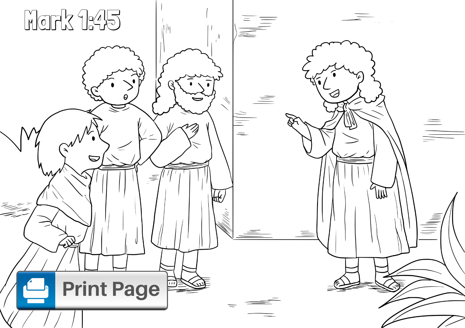 Jesus Heals the Leper Coloring Pages for Kids