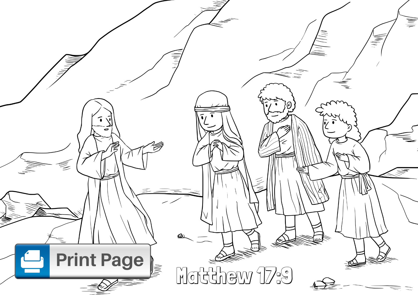 Jesus Transfiguration Coloring Pages (Free Printable PDFs