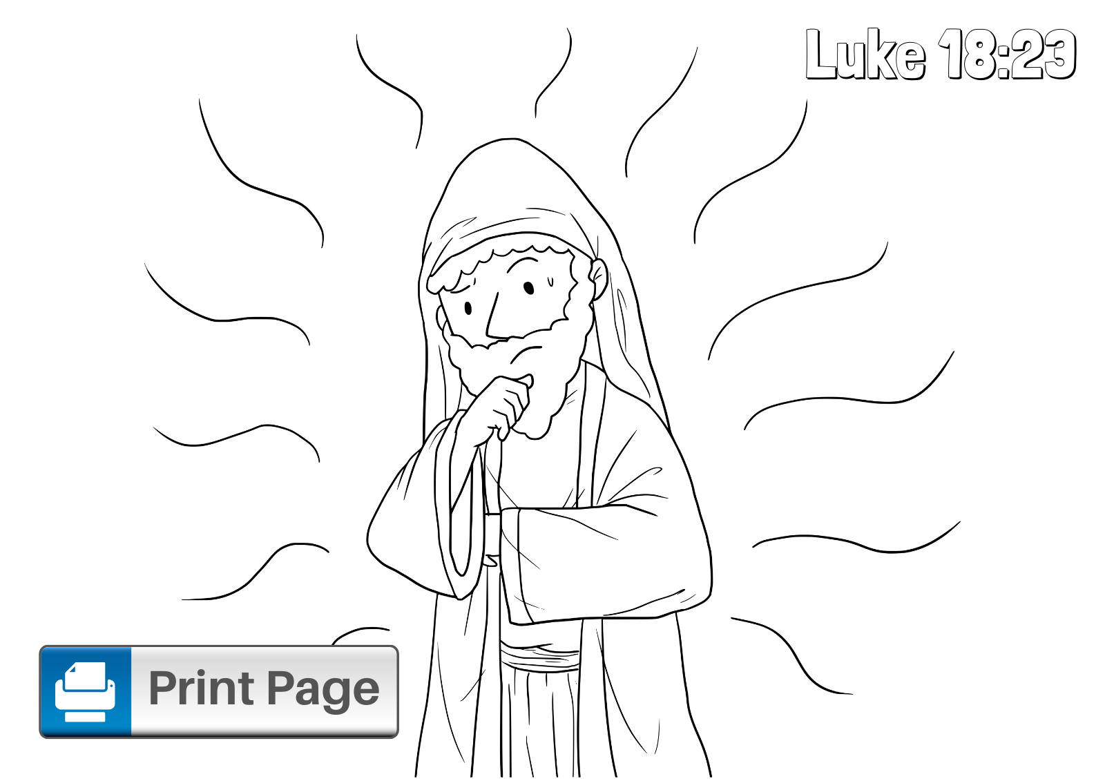 Jesus and the Rich Young Ruler Coloring Pages for Kids