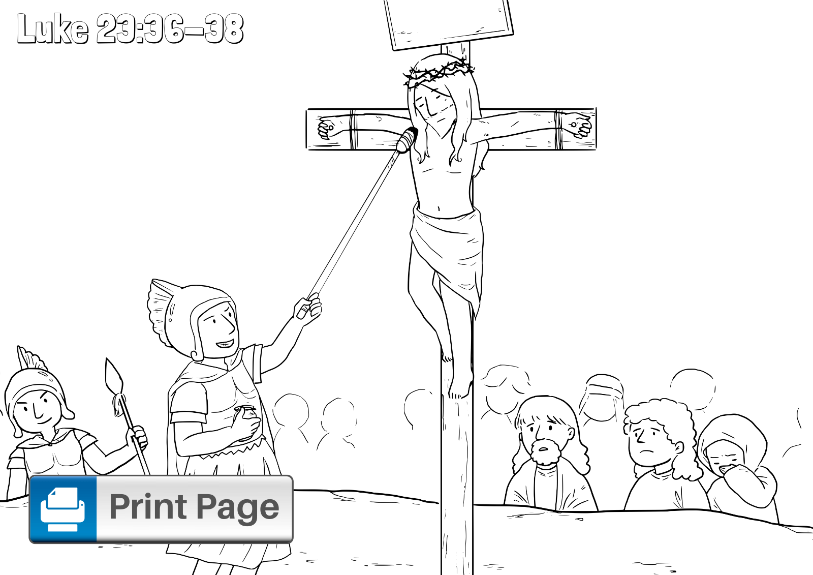 Free Jesus on the Cross Coloring Pages (Printable PDFs