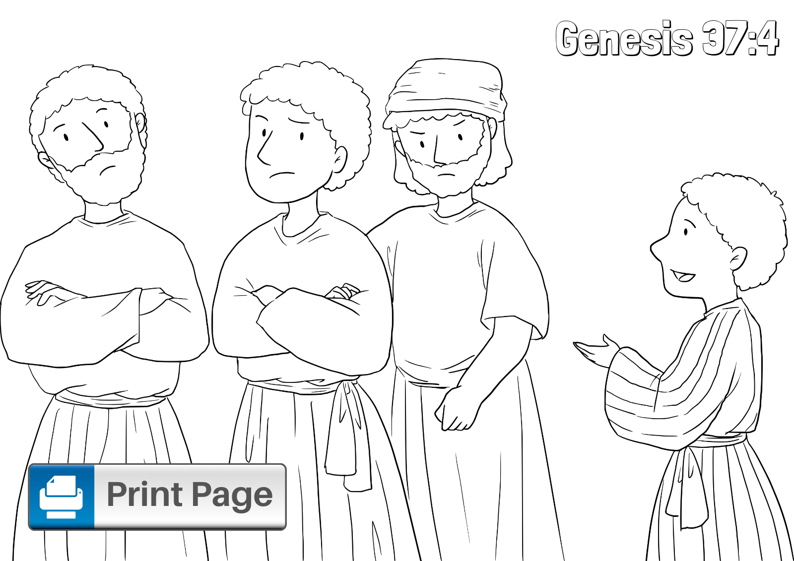 Joseph and His Brothers Coloring Pages for Kids