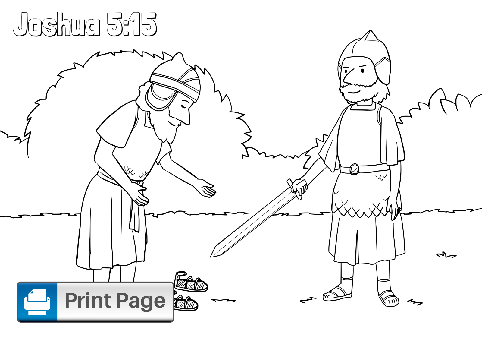 Free Walls of Jericho Coloring Pages for Kids (Printable