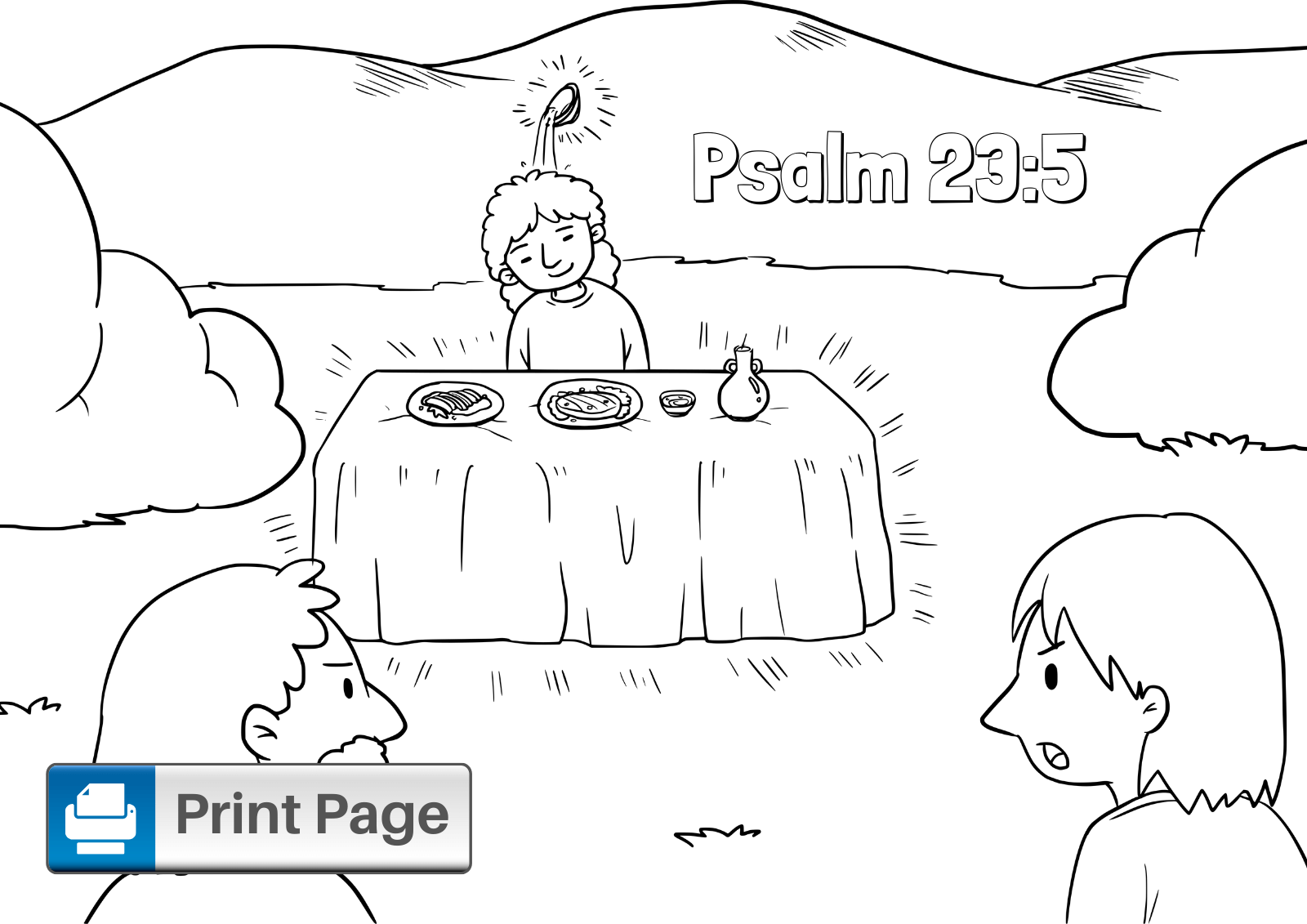Free Printable Psalm 23 Coloring Pages for Kids