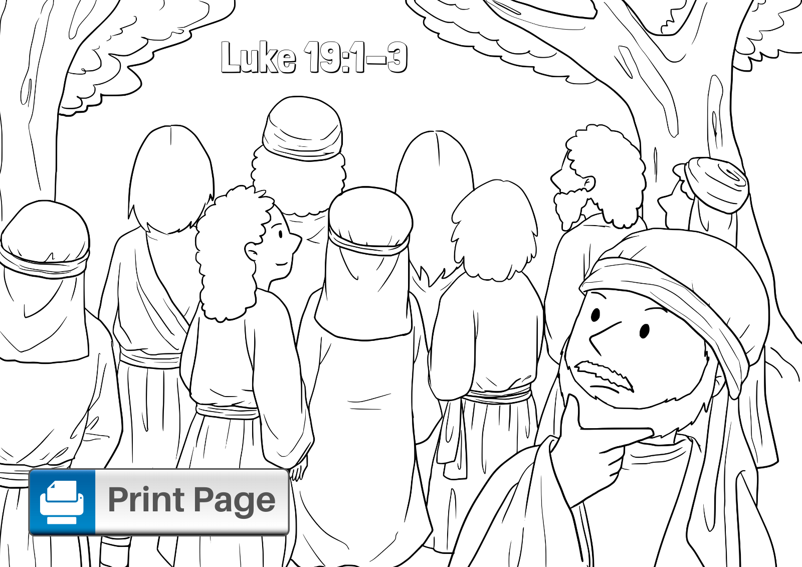 Free Printable Zacchaeus Coloring Pages for Kids
