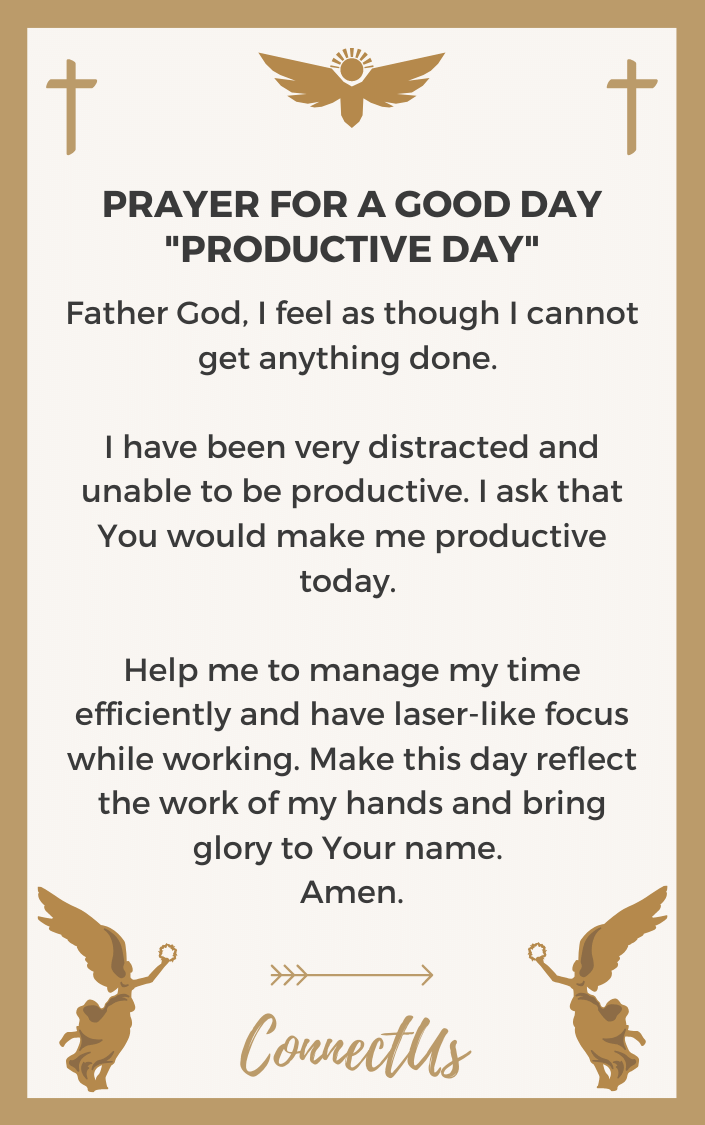 pics Prayer For A Great Day At Work connectus