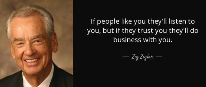 zig ziglar know like trust factor