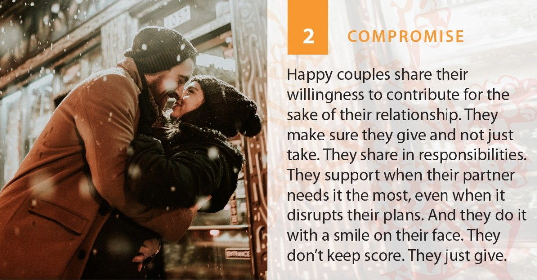 Compromise is A Strength of a Romantic Relationship