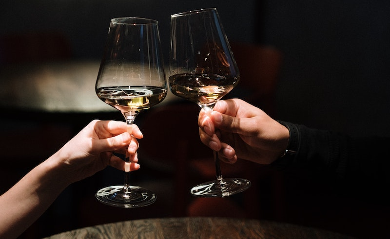 date night with wine - approach a woman