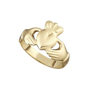 14K Gold Ladies Claddagh Ring S2455