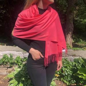 Cashmere Blend Wrap by Connemara Weavers in Hot Open