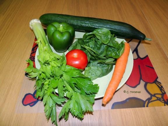 Sid 107 Magnificent 7 Morot grön paprika spenat selleri gurka tomat