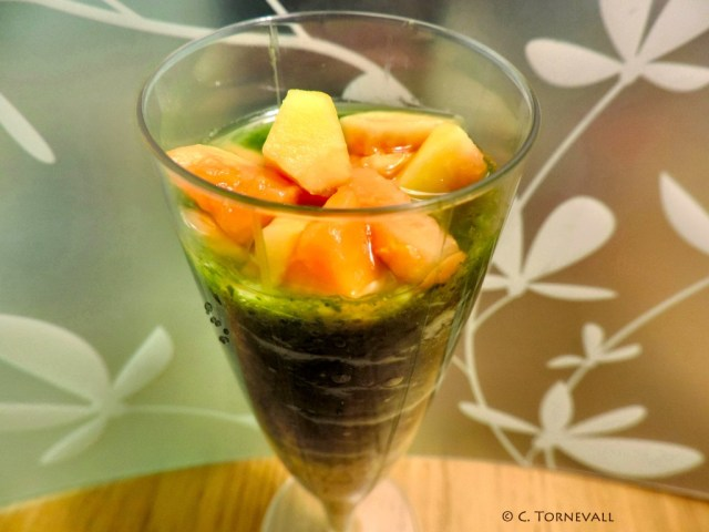 Drink havregryn mango citron Ingefära och spenat 04