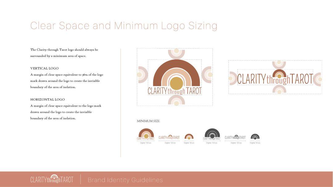 Clarity Through Tarot Brand Identity Logo Spacing