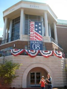 Tower in Belmont prepped for 2008 debate.