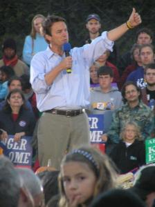 John Edwards giving a thumbs up