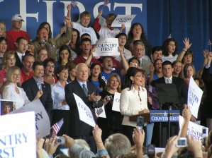 McCain and Palin at rally in Cedar Rapids