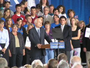 McCain Speaking at rally in Cedar Rapids