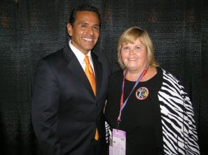 Connie Wilson with the mayor of Los Angeles