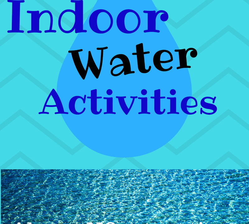 Easy and fun indoor water play for toddlers and preschoolers. Water play is a great sensory activity for toddlers and makes for fun scooping and pouring for preschoolers as well. It's quick to set up and a lot of fun when you're stuck indoors. Read more about it at Lessons and Learning for Littles!