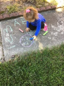 Chalk is a great learning tool! It's versatile, readily available, and fun.