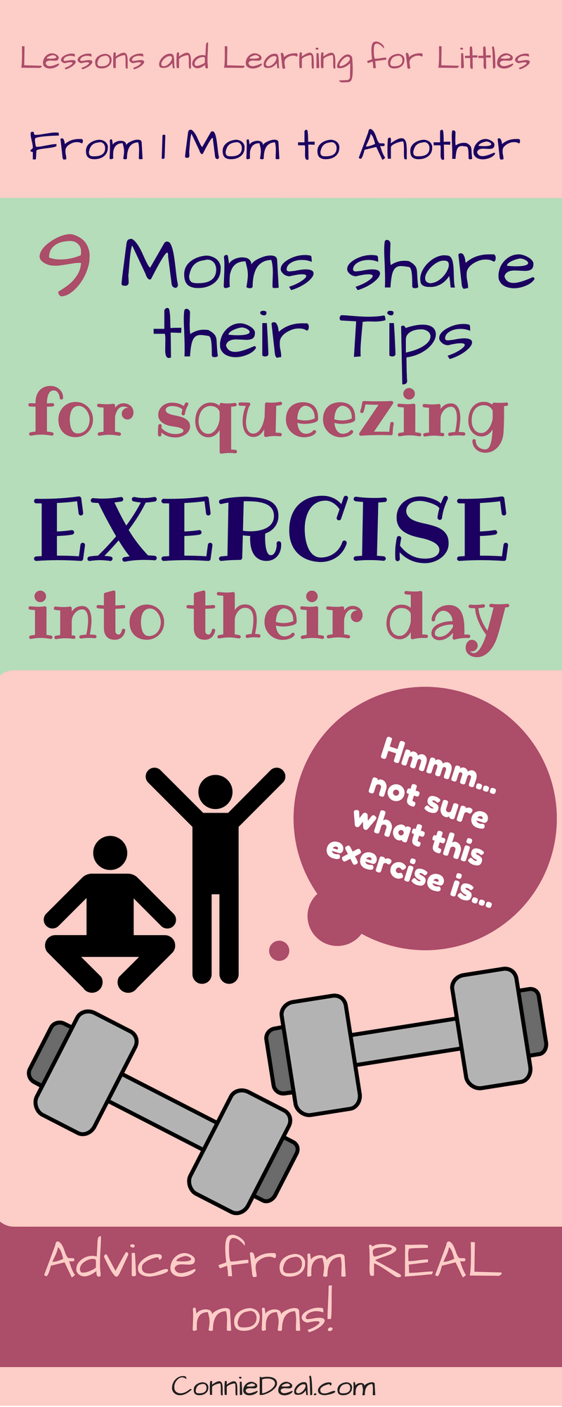 How do toddler moms fit exercise into their day? Find out how REAL toddler moms find and make time for exercise.